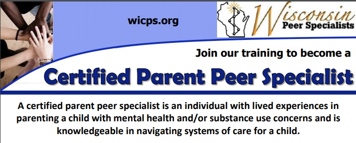 Join our training to become a Certified Parent Peer Specialist. A certified parent peer specialist is an individual with lived experiences in parenting a child with mental health and/or substance use concerns and is knowledgeable in navigating systems of care for a child.