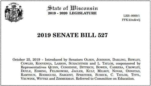 2019 SB 527 - Bill Header